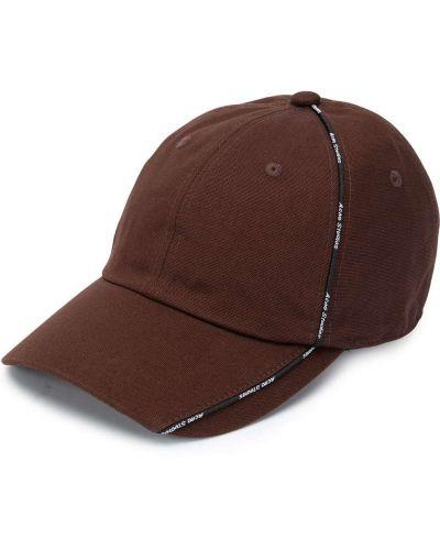 Brązowa czapka bawełniana Acne Studios