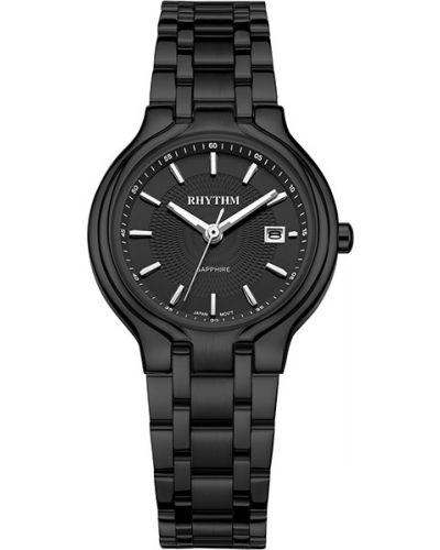 Кварцевые часы водонепроницаемые с круглым циферблатом Rhythm