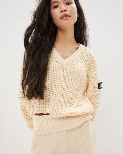 Пуловер бежевый итальянский J.b4