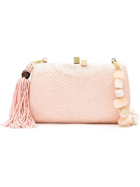 Пляжная розовая соломенная пляжная сумка Serpui