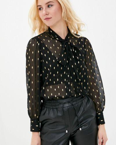 Черная блузка с бантом Marks & Spencer