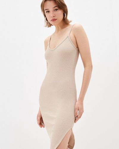 Бежевое платье Pink Frost