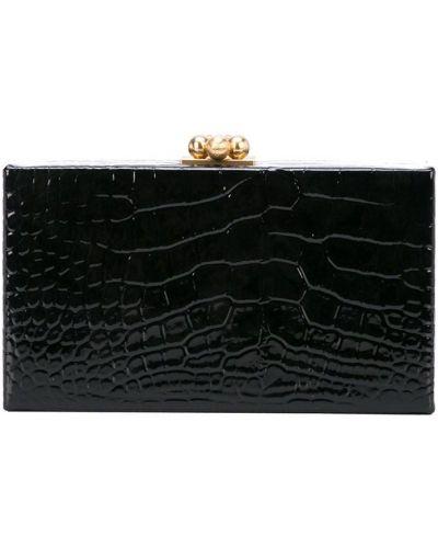Черная кожаная сумка Edie Parker