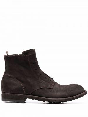 Кожаные ботинки - коричневые Officine Creative
