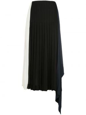 Черная асимметричная с завышенной талией плиссированная юбка с драпировкой Monse