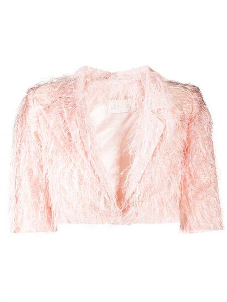 Розовый короткая куртка с короткими рукавами с бахромой Loulou