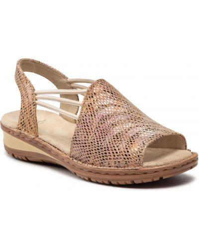 Sandały casual - brązowe Ara