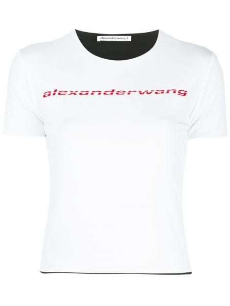 Белая прямая футболка с круглым вырезом с короткими рукавами T By Alexander Wang