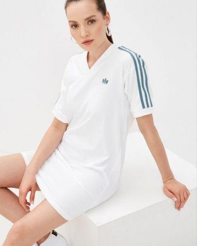Белое платье Adidas Originals