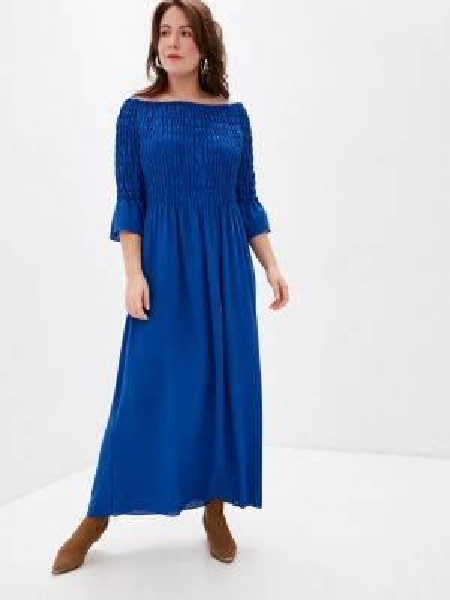 Синее повседневное платье Keyra
