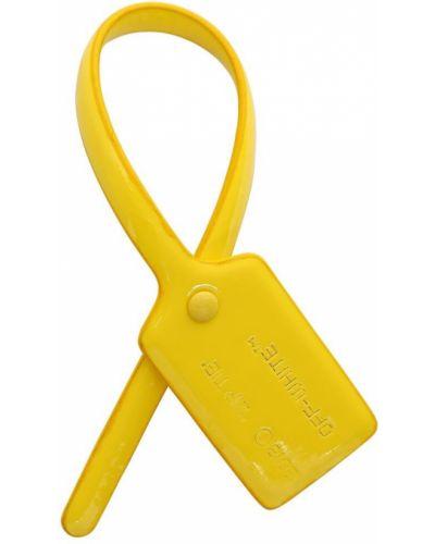 Желтая кожаная резинка для волос Off-white