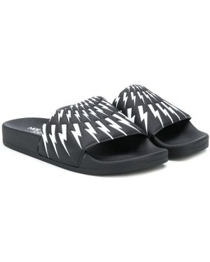 Шлепанцы для обуви черный Neil Barrett Kids