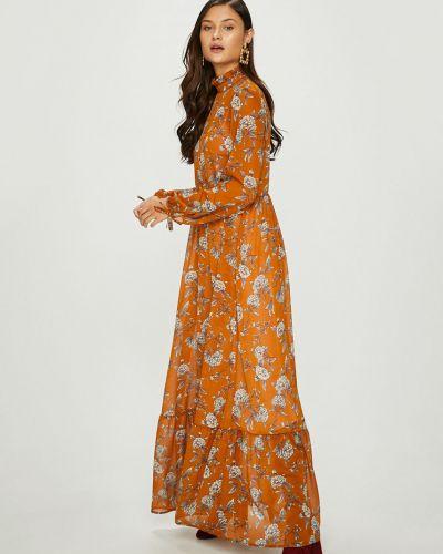 Платье макси прямое с длинными рукавами Answear