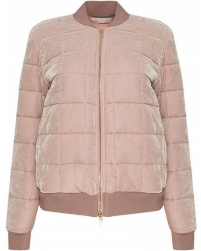 Стеганая куртка розовая на молнии Stella Mccartney