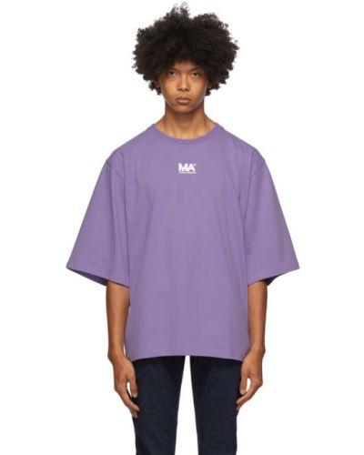 Fioletowy t-shirt bawełniany Martin Asbjorn