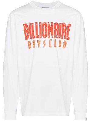 Лонгслив с принтом - белая Billionaire Boys Club