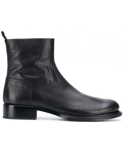 Ботильоны черный кожаный Ann Demeulemeester