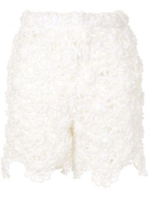 Акриловые белые шорты с поясом Comme Des Garçons Pre-owned