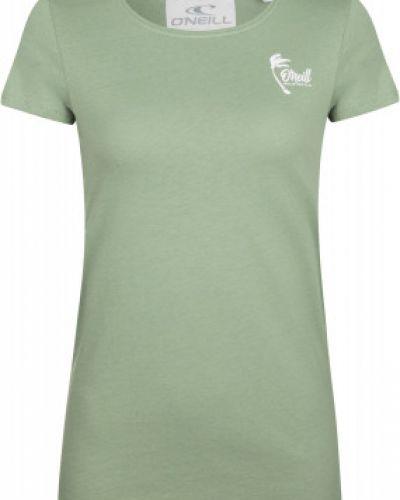 Зеленая хлопковая прямая футболка O`neill
