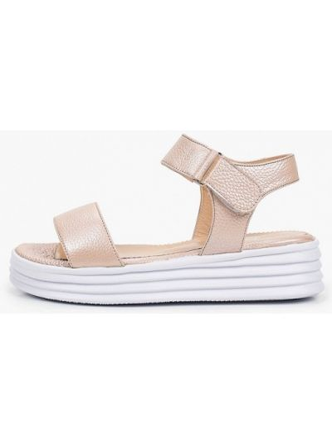 Бежевые кожаные сандалии Laremo