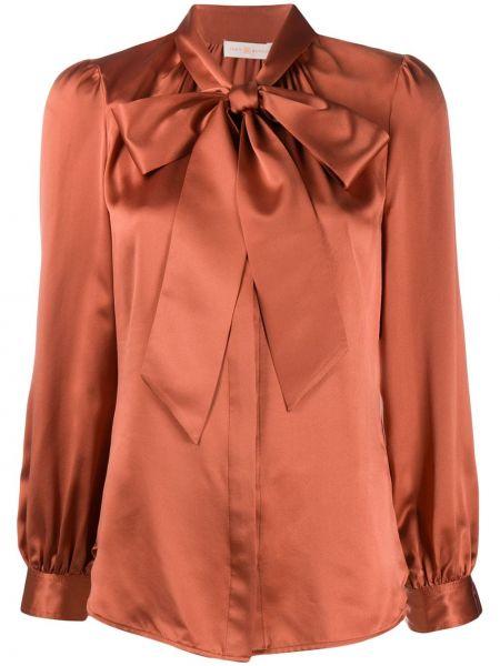 Шелковая блузка - розовая Tory Burch