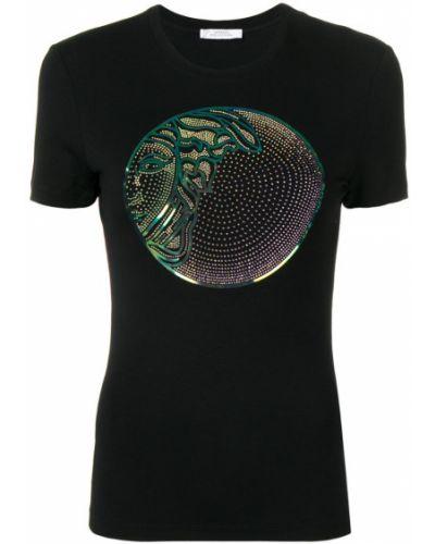 Футбольная черная футболка Versace Collection