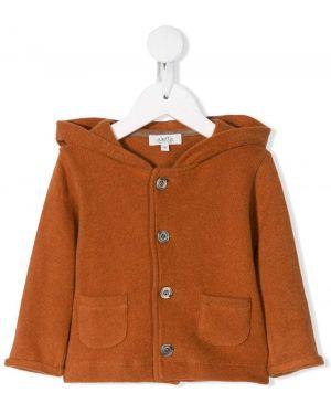 Pomarańczowa kurtka z kapturem bawełniana Aletta