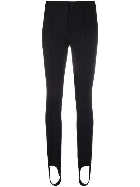 Czarne legginsy z wiskozy Moncler Grenoble