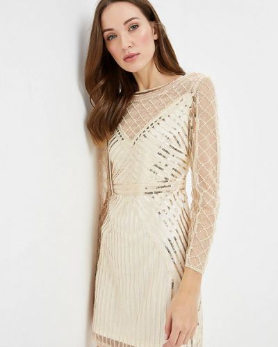 Вечернее платье осеннее золотой Paccio