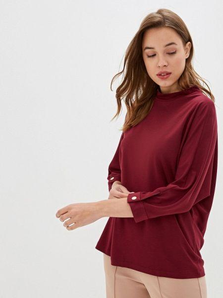 Блузка с длинным рукавом бордовый красная Ruxara