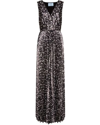 Вечернее платье макси с вырезом Prada
