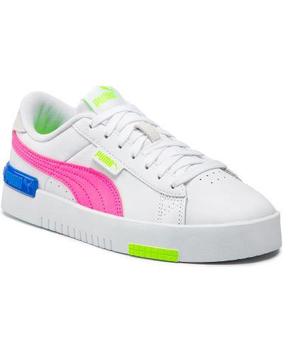 Buty sportowe skorzane - białe Puma