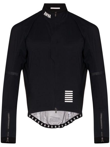Czarna długa kurtka z długimi rękawami z siateczką Rapha