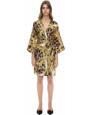 Халат с поясом шелковый Versace