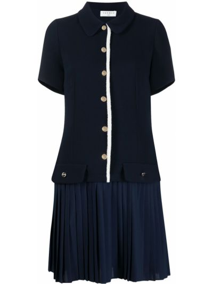 Платье мини короткое - синее Sandro Paris