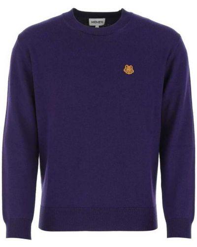 Fioletowy sweter z haftem Kenzo