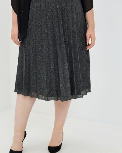Плиссированная серая плиссированная юбка Ulla Popken