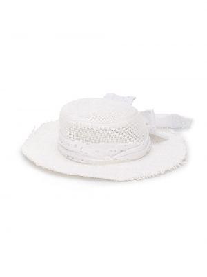 Шляпа белая свободного кроя Lapin House