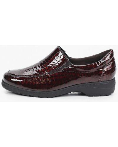 Бордовые зимние туфли Caprice