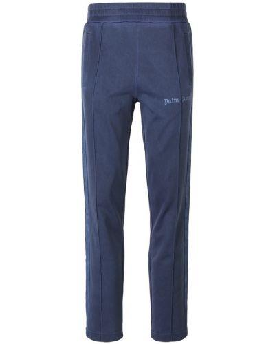 Niebieskie spodnie materiałowe z paskiem Palm Angels