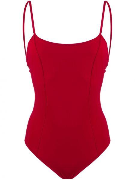 Красный купальник с вырезом эластичный круглый Sian Swimwear