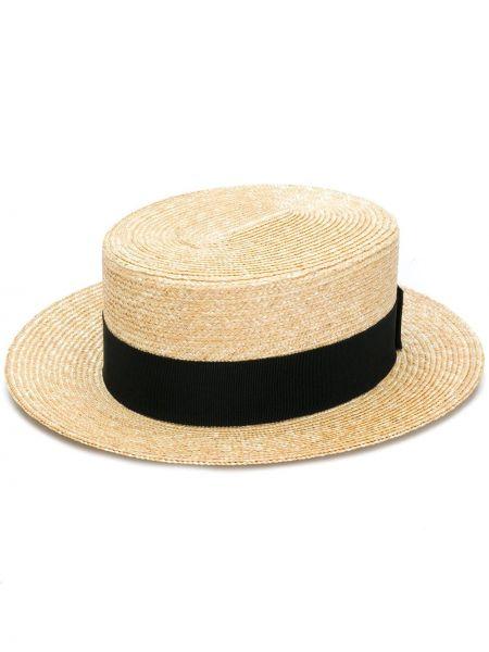 Czarny kapelusz bawełniany Prada
