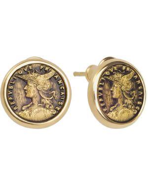 Серебряные серьги золотые позолоченные Style Avenue