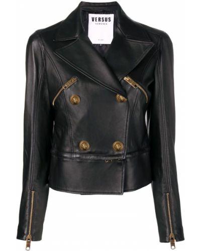 Пиджак черный на молнии Versus