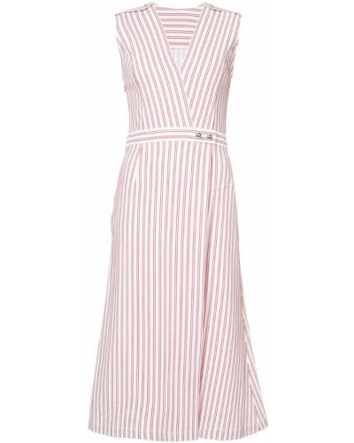 Платье макси в полоску с V-образным вырезом с запахом Jason Wu
