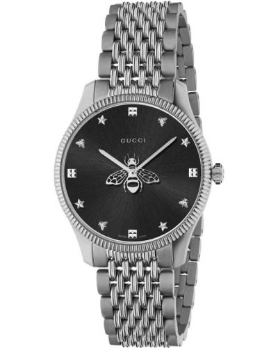Серые часы Gucci