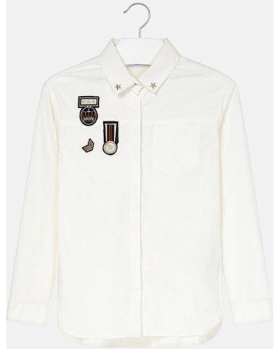 Блуза прямая с воротником Mayoral