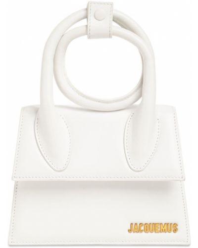 Кожаная белая сумка с подкладкой Jacquemus