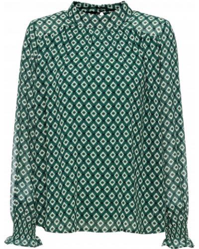 Блузка с длинным рукавом боди зеленый Bonprix