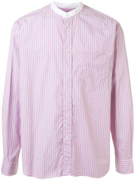 Розовая рубашка с воротником на пуговицах с карманами Sophnet.